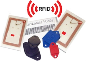 Bild p RFID system och RFID taggar